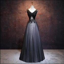 Vestidos de fiesta perla negra