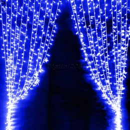 Wholesale Led Light Backdrop For Wedding - Wholesale-2015 New 6*3M 600 LED Fairy Curtain Lights String Lights Waterfall Lights for Xmas Party Wedding Decoration Backdrop Tree Lamp