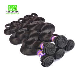 Wholesale Cheap Hair Products Free Shipping - Malaysian Virgin Hair Body Wave 4 pcs Lot Unprocessed Human Hair Weaves Cheap Hair Products Malaysian Body Wave Hair Bundles Free Shipping