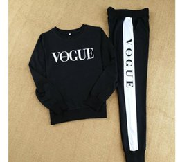 Wholesale Baseball Hoodie For Women - Hot Sale New 2018 Women 2 piece clothing set casual fashion Vogue sweatshirt+ long pants tracksuit for women hoodie suit