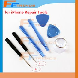 Wholesale Head Repair Kit - for iPone 4 4S 4G 5 5C 5S 7 in 1 Repair Pry Kit Opening Tools Cross Head 5 Point Screwdriver Sucker Wholesale Free Shipping 10set lot