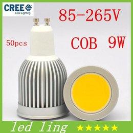 Wholesale E27 Spotlight Lm - CREE LED Bulbs 9W E27 GU10 MR16 E14 E26 B22 GU5.3 COBLed Bulb Light Lamp 900 LM Warm White Led Spot