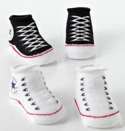 Wholesale Cheap Wholesale Boot Shoes - New Baby Infant Shoe Socks C*NVERSE BABY INFANT Boys Girls CRIB SHOES BOOTIES SOCKS boot sock 0-6M cheap 201504HX