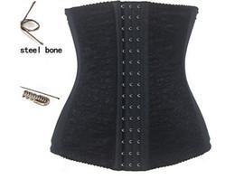 Wholesale Girdle Training - Big women Steel Bone Girdle Waist Cincher Top Waist Training Corsets Underbust Belt Body Control Shaperwear Hot Shapers for fat women 5372