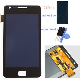 Wholesale Galaxy S2 Touch Screen Digitizer - Wholesale-Black for Samsung Galaxy S2 SII GT-i9100 i9100 LCD Display Touch Screen Digitizer Touch Panel Full Assembly,Free shipping