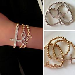 Wholesale Cross Bead Charms Cheap - 25%off!OUTLETS!Fashion jewelry,infinity cross love bracelet,charm bracelet,elastic bracelet,cheap jewelry wholesale,bead bracelet,in stock