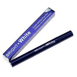 Wholesale Blue Tooth Kits - Blue Package Teeth Whitening Pen Professional Level Whitening Guaranteed Teeth Whitening Dental Care Bright Bleaching Pen Remove Stain Kit