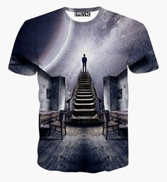 Wholesale Flash Universe - w1208 Newest design Men Women's galaxy space t Shirt print see the universe 3D t-shirt summer harajuku creative tee shirt blouse