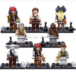 Wholesale Sluban Pirate Set - 2016 Sale Assemblage Sluban Christmas Pirates Series 8 Pcs Set Minifigures Building Toys New Kids Gift Free Shipping Compatible