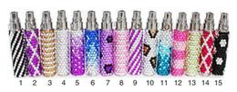 Wholesale E Cigarette Battery Colorful Diamond - Ego diamond crystal battery luxury 1100mah bling vape pen electronic cigarette colorful e cig ego g fashionable ecig