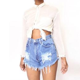 Patch crâne vintage en Ligne-Gros- oioninos New Summer Shorts Femmes Vintage Club Denim Shorts Patch Sexy Hip Hop Skull Plus La Taille Déchiré