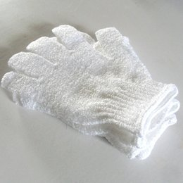 Wholesale Exfoliating Face Cloths - Cloth Mitt Exfoliating Face or Body Bath Scrub Moisturizing gloves Apri whitel Glove wholesale retail
