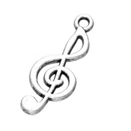 Wholesale Musical Treble Clef - 300 pcs x Musical Note ~ Treble Clef~tibetan silver charm,Pendant~ jewellery making DIY craft free shipping