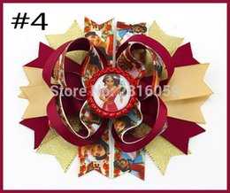 Wholesale Inspire Hair - Free Shipping 2017 Newest 12pcs 5.5'' Inspired Fashion Hair Bows Popular Character Hair Bow With Lined Clips Bouqiue Girl Hair Bows A