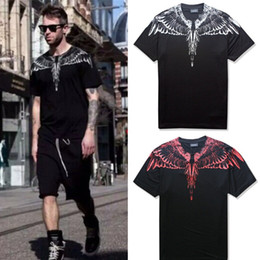 Wholesale fashion wings - Summer T Shirts Men Women Italy County Of Milan Feather Wings MB T-shirt RODEO MAGAZINE Tee Marcelo Burlon T Shirts