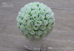 Vente chaude La Haute Qualité Artificielle Tissu Roses Boule De Fleurs pour la Décoration De Mariage De Partie (30 cm de diamètre) ? partir de fabricateur