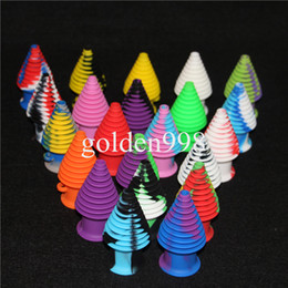 Wholesale Drip Covers - Tower Shape Silicone Mouthpiece Cover Rubber Drip Silicone Mouth Piece for GLASS BONGS Silicone Containers nectar collector bubbler bong