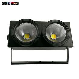 Эффектные световые эффекты онлайн-2eyes 2X100W LED COB Light DMX Stage Lighting Effect LED Blinder Light, холодный белый и теплый белый