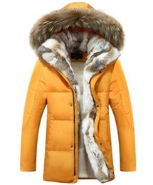 Wholesale Korea Fashion Jacket Winter - Men's winter new South Korea version of cultivate one's morality even cap with thick warm white duck down couple down jacket. S-5xl