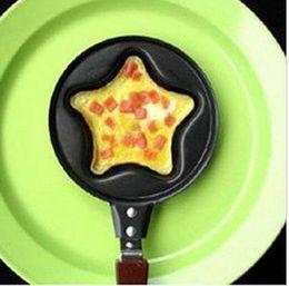 Wholesale Mini Fry Pan Lid - Free shipping 2pcs lot,Mini Lovely Star Shaped Egg Fry Frying Pan Cook pan Non-Stick NO Pot Lids