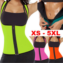 Wholesale Womens Neoprene Tops - Sexy Womens Neoprene Body Shapers Workout Waist Trainer Vest Full Support Sport Gym Fitness Slimming Waist Training Corset