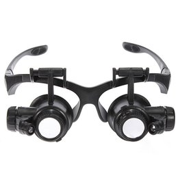 Wholesale Glasses Style Magnifiers - New Coming Updating Loupe 10x 15x 20x 25x Watch Repair Glasses Style Magnifier Eyewear Magnifier Microscope Magnifiers Loupes