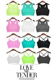 Wholesale Dance Fitness Top - Quick-drying sexy fitness vest women yoga clothing run jump hold dance sport coat vest the new 2016