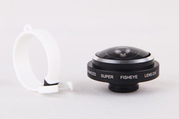 Wholesale Camera Lens For S4 - Black Universal Detachable Clip on 235 Degree Super Fisheye Fish Eye Camera Lens for iPhone 4S 5S 5C 5 6 6+ Samsung S3 S4