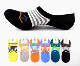 Wholesale Wholesale Lycra Socks - Cheap Men's stripe Mixed color socks summer stealth ship socks for Men 6colors CW23