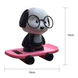 Wholesale Solar Powered Dancing Dolls - Newest Multicolor Car Electronics Accessories Solar Powered Dancing Dog Animal Swinging Animated Bobble Dancer Toy Car Decor