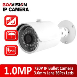 Wholesale Ip Camera Onvif Poe Outdoor - 720P IR 20m Mini Bullet H.264 1 4 CMOS 3.6mm Fixed Lens Night Vision Waterproof Bullet Onvif,P2P IP Camera With PoE Port Outdoor