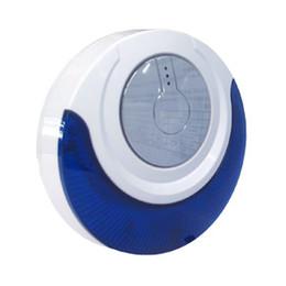 Wholesale Siren Flashing Light - 433Mhz 868MHz Sound and Light Siren MD-314R Wireless Flashing Siren w Strobe Light Backup Battery