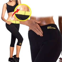 Wholesale Neoprene Slimming Shorts - Hot Shapers Sports Pants Women Neoprene Slimming Pants Body Shaper Waist Training Corsets Slimming Shapers Shorts Free DHL 129