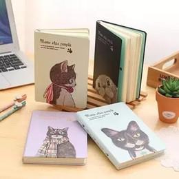 livro em capa dura Desconto Atacado- 2017 coreano bonito Kawaii Meow Star criativo capa dura Notebook com cor em branco papel Shcool Notebook diário livro presentes papelaria