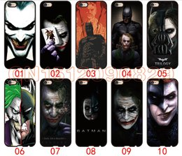 Wholesale Galaxy S3 Batman - Batman and The Joker Face For iPhone 6 6S 7 Plus SE 5 5S 5C 4S iPod Touch 5 For Samsung Galaxy S6 Edge S5 S4 S3 mini Note 5 4 3 phone cases
