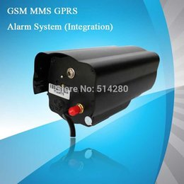 Wholesale Security Camera System Sms - Free shipping TMV04 Home alarm System SMS GPRS GSM Controller security system IR CCD Camera (MMS alarm)