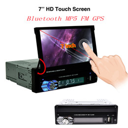 Wholesale Auto Screens - eClouds 9601G 1 Din Bluetooth Car MP5 Player Car GPS Navigation FM Radio 7 Inch HD Touch Screen Auto Multimedia