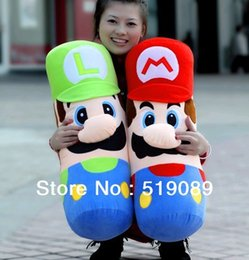 Wholesale Super Large Teddy Bear - Free Shiping Hot Sell 50cm Large Pillow Mario and Luigi Plush Pillow,Super Mario Bros Brothers Luigi Plush Doll