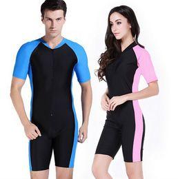 Wholesale Swimwear Rash - One piece diving skins wetsuit men women swimsuit swimwear rash guard male female windsurf ropa surf clothing swim suit tights
