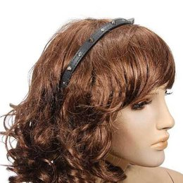 Wholesale Spiked Headbands - Wholesale-Dover Fashion Punk Headband Bow Spike Rivets Studded Hair Band Unisex