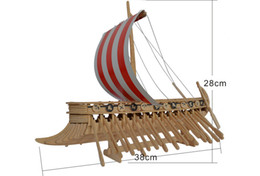 Wholesale Diy Wooden 3d - The popular birthday gift , Phoenicia warship wooden Jigsaw puzzle 3D DIY child educational Intelligence toys Simulation model puzzle
