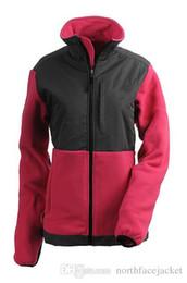 Wholesale Warmest Womens Ski Jacket - NORTH New Winter Fleece Womens Ski Hooded Jacket Winter Outdoor Sports Warm Fleece Sweatshirt SoftShell Outerwear Black FACE White S-XXL