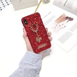 Wholesale Christmas Phone Cases - 2017 Christmas Elk Shining High Quality Phone Case For iPhone X 8 8plus 7 6s Case with Retail Package Free Shipping