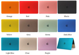 Wholesale Macbook Pro Case Clear - Clear Crystal Rubberized Matte Surface Hard PC Cover Case For macbook air pro retaina 11 13 12 with retina display