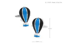 Wholesale Wholesale Hot Air Balloon Plates - High Quality New Classic Silver Copper Mens Wedding Cufflinks Novelty Rar e Fancy Hot Air Balloon & Clean Cloth 170976 170977 170978