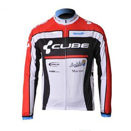 Wholesale Team Cube Cycling Jerseys - 2017 team CUBE Cycling Jerseys men\'s Bike Clothing Quick Dry Bicycle long sleeve shirt bike maillot Ropa Ciclismo Sportswear C0121