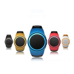 Wholesale Mini Sport Music - B20 Bluetooth movement Music watch speaker Mini Watch Bluetooth 2.1+EDR Sport Speaker TF Card FM Audio Radio Speakers
