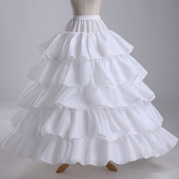 Wholesale Dress Underskirts - Charming 4 Hoop Ruffles Tiers Bridal Slip Gown Wedding dresses Petticoat Rock and Roll Skirt Underskirts For Ball Gown Pageant Dress EN4296