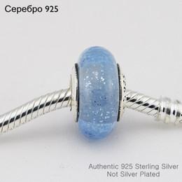 Aschenputtel schmuck perlen online-Passt Pandora Charms Armband 925 Sterling Silber Cinderella mit Blau Murano Glas Perlen Silber Charme DIY Schmuck Kostenloser Versand