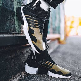 Wholesale Cheap Cargos - Acronym Air Presto Mid Running Shoes,Discount Cheap Sneaker Trainers Sportswear,Black-bamboo Lava olive cargo green Sports Shoe xz50